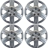 """Hubcaps for Toyota Corolla 2005-2008 Set of 4 Pack 15"""" Inch Silver , OEM Genuine Factory Replacement - Easy Snap On - Aftermarket Wheel Covers"""