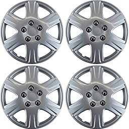 Hubcaps for Toyota Corolla (Pack of 4) Wheel Covers - 15 Inch Silver Replacement