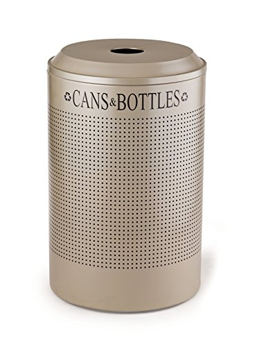 - Rubbermaid Commercial Products FGDRR24CDP Silhouette Refuse Can, Recycle Paper, Round