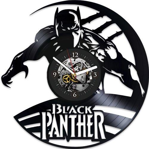Black Panther Xmas Gift, Gift For Boy, Black Panther Gift For Kids, Black Panther Wall Clock, Vinyl Wall Clock, New Year Gift, Wall Clock Modern, Wall Clock Large, Black Panther Gift For Fans