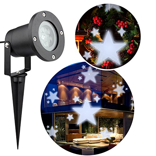 AOWIN Led Light Projector Outdoor, White Holiday Party