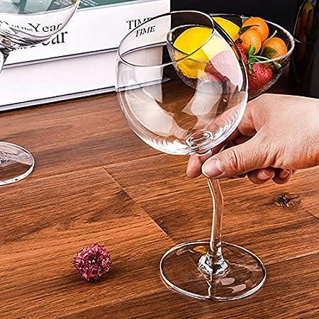 PPuujia 2 copas de vino para copas de vino dobladas, copas para parejas, regalo para el día de San Valentín, copas de vino tinto ultrafinas de cristal burdeos (color: 2 unidades)