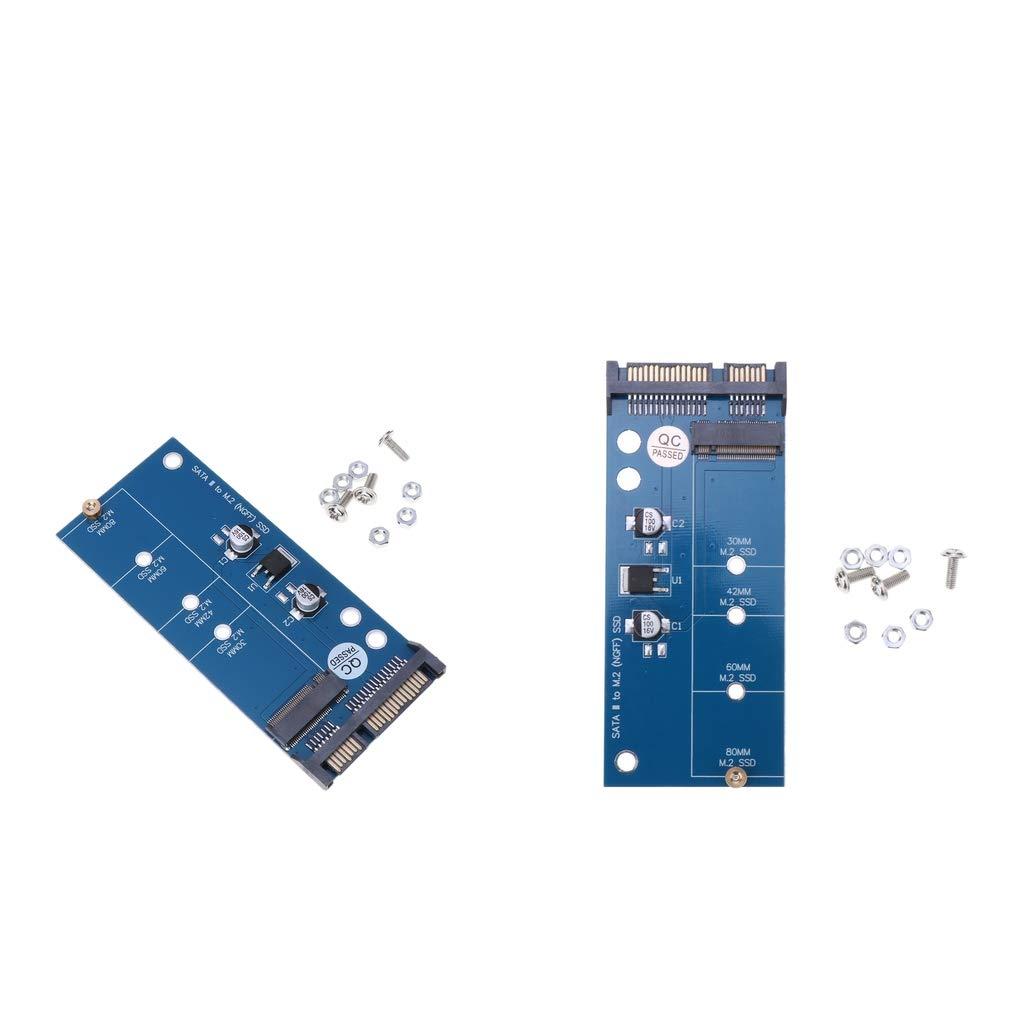KESOTO 2X M2 NGFF SSD a SATA 3 Adaptador de Tarjeta de ...