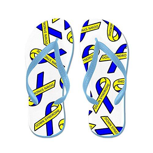 Cafepress Ner Syndrom Medvetenhet Band - Flip Flops, Roliga Rem Sandaler, Strand Sandaler Caribbean Blue