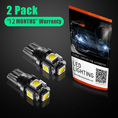Marsauto-T10-168-194-2825-LED-Light-Bulbs-Super-Bright-5SMD-Exterior-License-Plate-Lights-Lamp-Car-Interior-Courtesy-Dome-Lights-Map-White-2-Pack