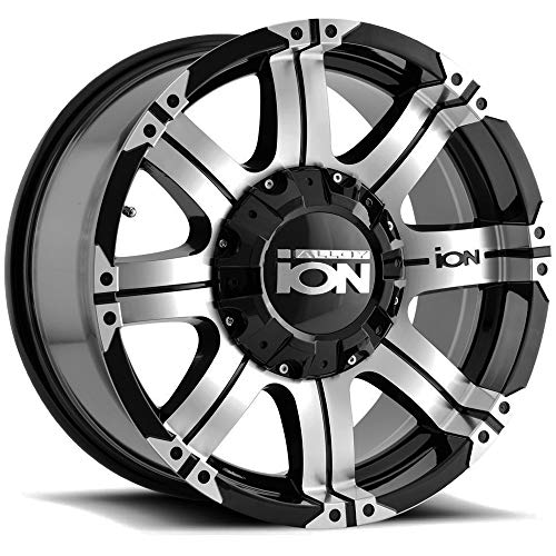 (Ion Alloy 187-7937B18 Black Wheel with Machined Face and Lip (17x9
