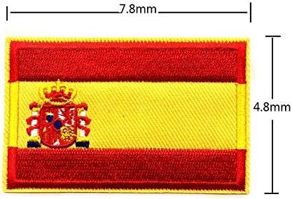 BANDERA DEL PARCHE BORDADO PARA PLANCHAR O COSER (España 7.8cm ...