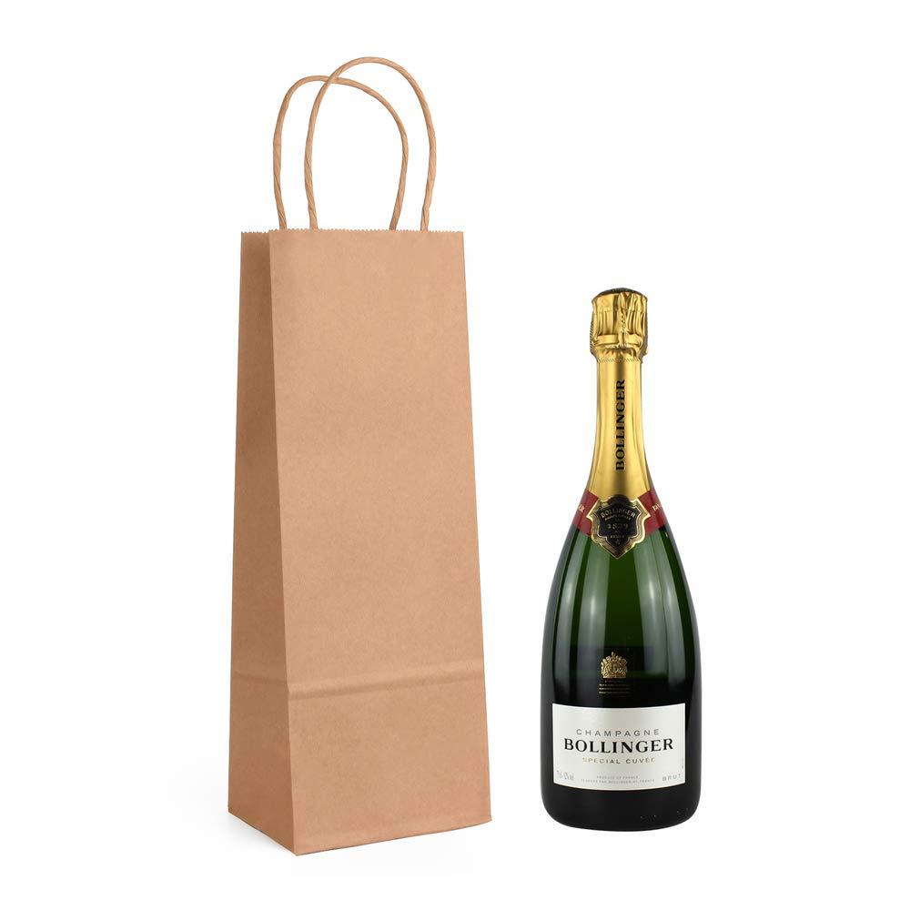 ewtshop Bolsas de Botella, 10 Unidades de Papel de estraza Estable, Bolsas, Bolsas de Botellas de Vino.