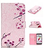 LG G Stylo Case, LG G4 Stylus Wallet Case,Angelan[Slim Fit][Stand Feature]Dual Use Premium PU Leather Fold Wallet Case For 5.7 inch LG G Stylo(LG G4 Stylus) (LG LS770)( 2015) (pink plum)