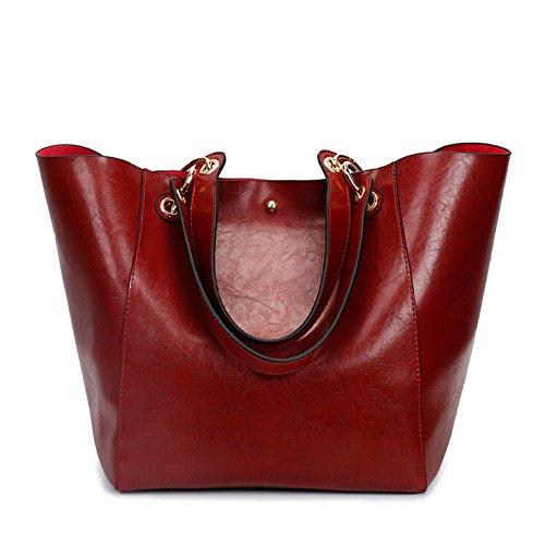 Bandoulière Sacs Cuir à à Fashion Sac Red épaule à Main Messenger Huile Sacs Cire Bag En Sac En Main QIAOY Cuir Sac vnx48qwE