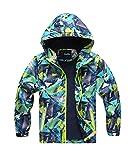 M2C Boys Outdoor Color Block Fleece Lining Windproof Jacket with Hood 4/5 Turquoise