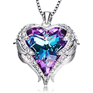 Heart of Ocean Pendant Necklaces for Women Made with Swarovski Crystals