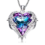 NEWNOVE-Heart-of-Ocean-Pendant-Necklaces-for-Women-Made-with-Swarovski-Crystals-Purple-Swarovski-Crystals