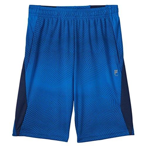 FILA SPORT Boys 8-20 Pieced Training Shorts (Small, Mystic Night)