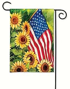 Delightful BreezeArt American Sunflowers Garden Flag 31101