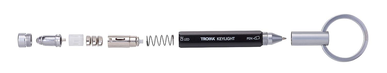 TROIKA Schlüsselanhänger LED Taschenlampe Mikrokugelschreiber Keylight KYL25 SI