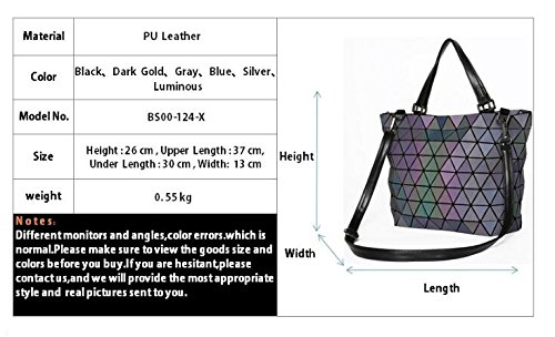 Bag Matte Casual Luminous Tote Women Sequins Geometry Bag Plaid Diamond Handbag Matte Folding Bags Bucket Blue Matte Saser Mirror Laser Shoulder Blue Twqpnpx6R
