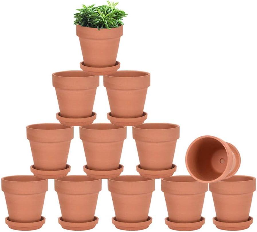 clay pot plants buy online Terracotta Pots with Saucer - 2 Pack 2 Inch Clay Pot Ceramic Pottery  Planter Cactus Flower Pots Succulent Pot Drainage Hole, Great for Plants,