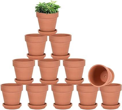 clay flower pot buy online Terracotta Pots with Saucer - 2 Pack 2 Inch Clay Pot Ceramic Pottery  Planter Cactus Flower Pots Succulent Pot Drainage Hole, Great for Plants,
