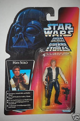 Star Wars Power of the Force Tri-Logo Multi-Language Red Carded Han Solo Kenner