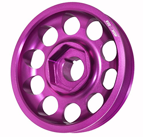 Light Weight Aluminum Crank Shaft Engine Pulley Purple For K-Series K20 K24 DOHC Vtec Engines