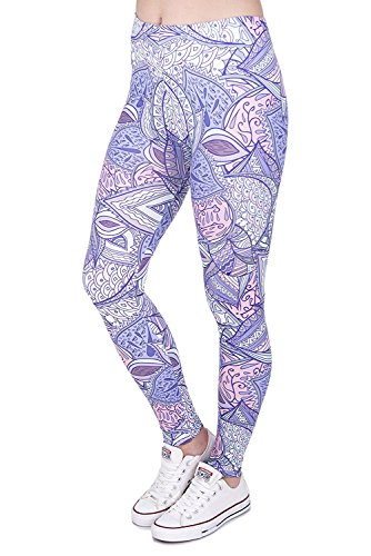 102f9b4ab7 Alive Digital Printed Women's Full-Length Yoga Power Flex Dry-Fit Pants  Workout Leggings