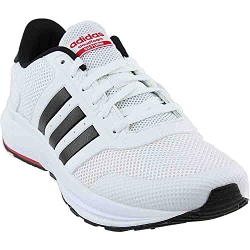 adidas Neo Men's Cloudfoam Saturn Running Shoe White/Black/Scarlet 10 M US