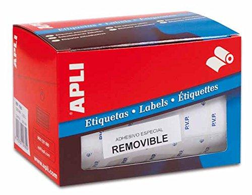 Apli 10087 Rotolo Etichette Autoadesive, 16 x 22, Bianco 10087