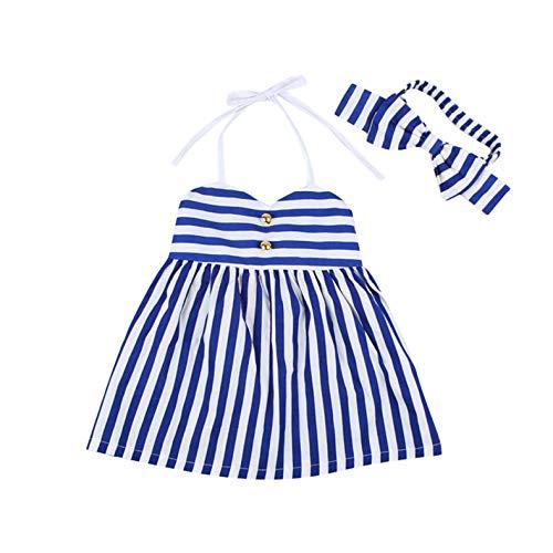 TIFENNY 2PCS Toddler Baby Girls Outfits Clothes Summer Princess Dress+Headband Sets