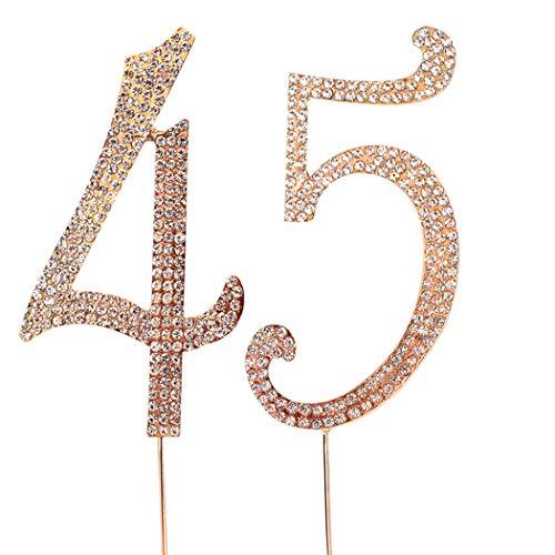 45 number cake topper - 1