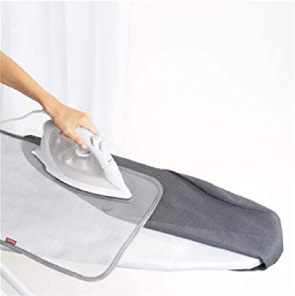 Brabnatia Ironing Board Cover 110 x 35cm, Ironing board cover small, Ironing board covers steam iron, Heat And Scorch Resistance Ironing Board Cover, With 4 Clips 1