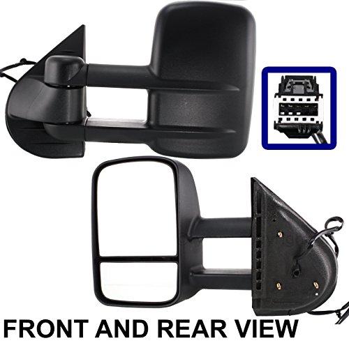 Telescoping Trailer Tow Mirror (Chevy Silverado Sierra 07-13 Trailer Tow Wide Power Heated Telescoping Mirror Lh)