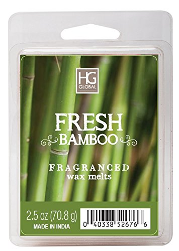 Hosley Fresh Bamboo Scented Wax Cubes/Melts - 2.5 oz - Hand Poured Wax Infused with Essential Oils. Perfect for Everyday Use, Wedding, Events, Aromatherapy, Spa, Reiki, Meditation. O4