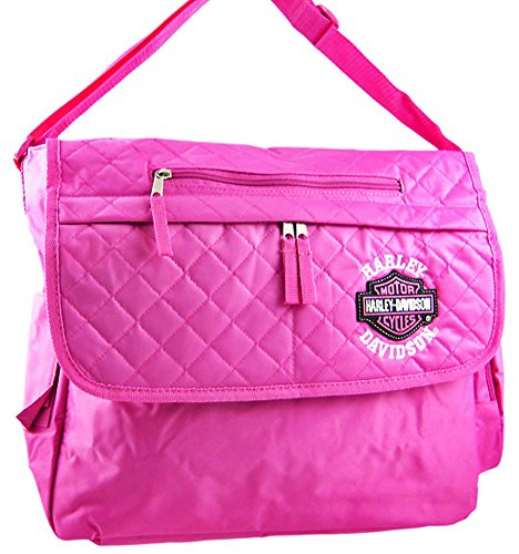 n Womens Messenger Bags Hdk84868 Hot Pink Licensed Harley Davidson Messenger Bag Hd 14.5 X 13 X 4.5 Inches Pink ()