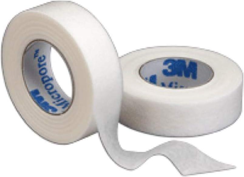 """3M Micropore Tape 1/2"""" x 10 yd White Box: 24"""