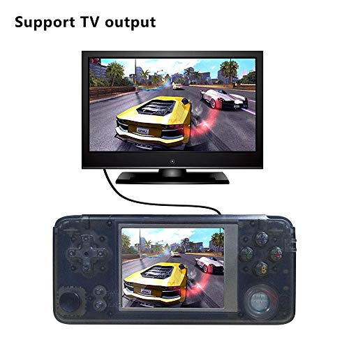 Retro Handheld Game Console, with Built in 3000 Classic Games,Dual Core 16G Emulator 3.0'' FC TV Support Game Player,Portable Video Games Console for Kids Adults Birthday Presents,NEW Crystal Black by PAWACA (Image #2)