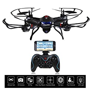 Holy Stone F181W Wifi FPV Drone with 720P Wide-Angle HD Camera Live Video RC Quadcopter with Altitude Hold, Gravity Sensor Function, RTF and Easy to Fly for Beginner, Compatible with VR Headset from Holy Stone