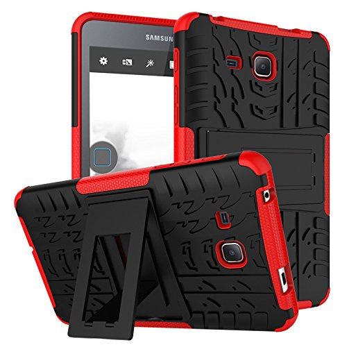 Samsung Galaxy Tab A 7.0 Case,Jeccy Full-body Shock Proof Hybrid Heavy Duty Armor Defender Protective Case with Kickstand,Hard Plastic TPU Case for Samsung Tab A 7.0 inch (SM-T280/SM-T285) 2016 - 3gs Hard Case