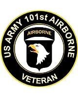 "US Army Veteran 101st Airborne Sticker Decal 3.8"""