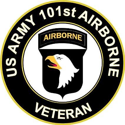 MilitaryBest US Army Veteran 101st Airborne Sticker Decal 3 8