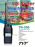 TYT TH-350 Tri-Band Radio 136-174 MHz (VHF), 220-260 MHz (1.25M), 400-470MHz (UHF) Analog Amateur (Ham) Ship from US only