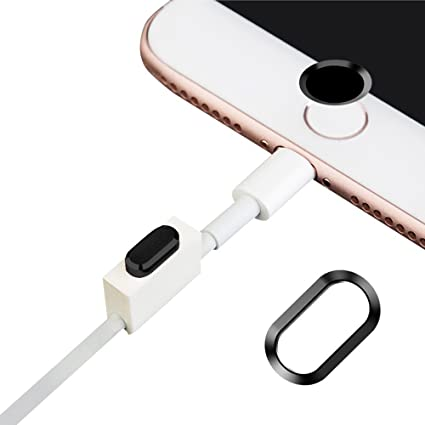 best sneakers 7465d 9ea6e Obbi 4 In 1 Rear Camera Lens Protective + Home Key Protective + Dust Plug +  Headphone Support for iPhone 7 PLUS (5.5'') Dust Plug (Black)