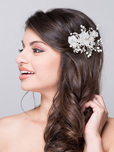 aw bridal flower side hair