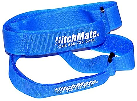 Heininger HitchMate 4076 QuickCinch Blue 21 hook and loop Soft Strap, (Pack of 4)