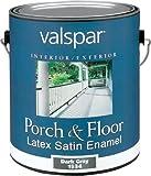 Valspar 1534 Porch and Floor Latex Satin Enamel, 1-Gallon, Dark Gray