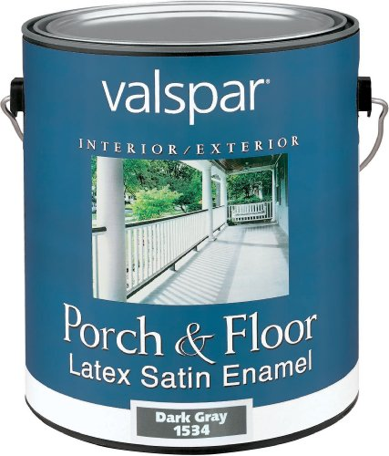 Valspar 1534 Porch and Floor Latex Satin Enamel, 1-Gallon, Dark Gray
