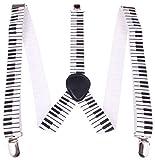 Enimay Great Quality Unisex Suspenders Piano