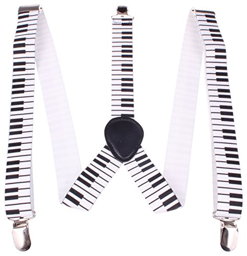 Enimay Great Quality Unisex Suspenders Piano by Enimay (Image #6)