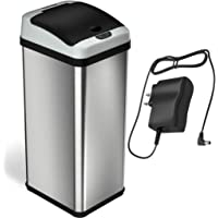 Limited Edition Automatic Sensor Deodorizer Touchless Trash Can, 49 Liter / 13 Gallon, Stainless Steel