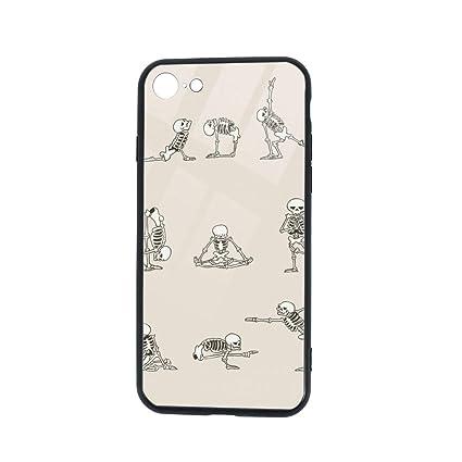 Amazon.com: Skull Skeleton Yoga Phone Cases for iPhone 7/8 ...